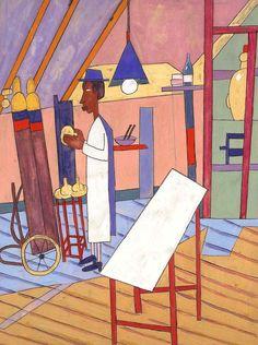 William H Johnson, Henry Johnson, Afro Art, Black Artists, Naive Art, Textile Artists, Black History Month, American Artists, Comic Art