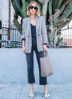 If you're only going to buy one blazer this fall, make it a check one. This Anine Bing version is our absolute favorite—unquestionably the smartest investment piece for the new season.