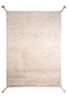 Woodnotes' hand knotted wool carpet col. ivory white