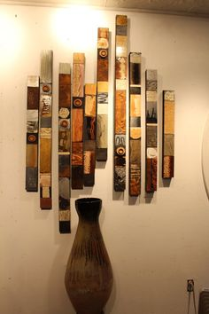 Items similar to Rustic Natural Textured Earthy Minimal & Modern Soul Totem 10 Wood Collages Large Metal wall grouping installation industrail Mid-Century on Etsy