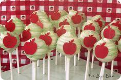 Pint Sized Baker: Simple Apple Design Cake Pops - How To