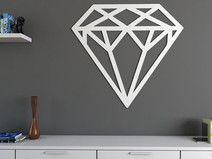 Diamante de vinilo #diamond #diamante #deco #home #design #diseño #handmade #hechoamano #DaWanda