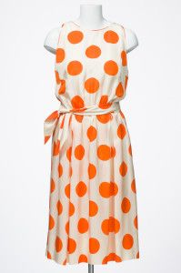 Gwen Gillam, spotted dress, ca. 1960s / Queensland Museum qm.qld.gov.au | thefashionarchives.org