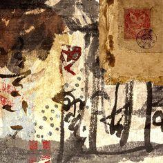 Featured Art - Learning by Carol Leigh Asian Mixed Media Art, Asian Art, Painting Collage, Collage Art, Art Postal, Photo D Art, Art Et Illustration, Illustrations, Learn Art