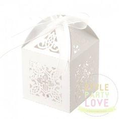 Bomboniere | Favour Boxes | Christening Cross - White