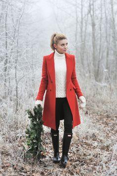 coat / płaszcz – Zara (stara kolekcja) Hunters / Huntery – Answear.com (do kompletu polecam...