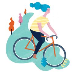 A spot for the Atlanta Magazine about Inn's for cyclists. Naomi Wilkinson, Bicycle Illustration, Kids Bicycle, Bike Art, Atlanta, Kids Rugs, Artwork, Cyclists, Bicycles
