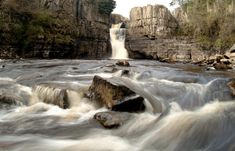 High Force, England's biggest waterfall, spectacularly drops 70 feet into a plunge pool below. Uk Landscapes, Plunge Pool, Picnic Area, Dark Skies, Space Travel, Travel Abroad, About Uk, Places To See, Woodland
