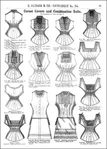 Corset Covers and Combination Suits B. Altman & Co. Catalogue, Winter 1886-87.