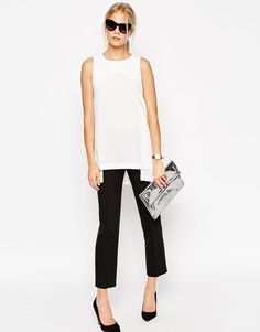 ASOS Origami Open Back Tunic (White) UK Size:14 EU Size:42 @ ASOS RRP £25.00