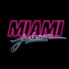 """New logo series for Miami Jackson, formerly known as Action Jackson inspired by the """"Action Jackson"""" designed by Michaël Brun.""""Jackson"""" calligraphy by Michaël Brun."""
