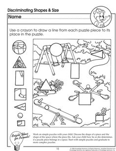 discriminating shapes and size visual discrimination worksheet for preschoolers jumpstart - Learning Colors Worksheets For Preschoolers
