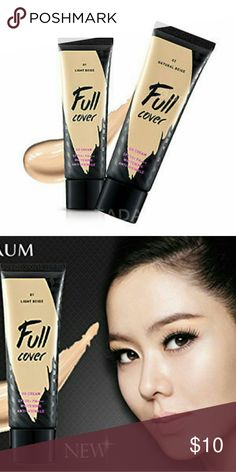 Aritaum Full Cover BB Cream 02 Natural Beige KOREAN BB CREAM -Full cover BB Cream SPF50+ PA+++ 50ml -HD soft focus powder not only provides perfect coverage but also absorbs sebum. -This product promotes natural-looking coverage while providing sun protection and whitening effect. Aritaum Makeup Foundation