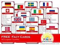 FREE European Countries Fact Cards and {Learn