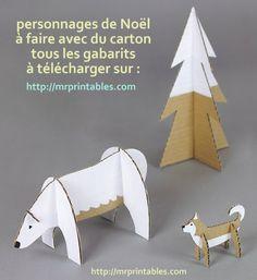 Fare Natale caratteri di cartone, modelli e modelli
