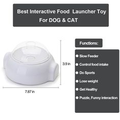 Flightbird Pet Interactive Treat Launcher ToyFun Food Dispenser Catapult thrower ToySlow Feeder Puzzle Toy for Dog/Cat/Small Animals * See this great product. (This is an affiliate link) #automaticdogfeeder