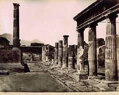 Historic photograph: Temple of Venus, Pompeii, by 'Giorgio Sommer (1834-1914)
