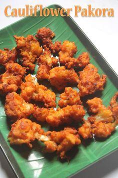 YUMMY TUMMY: Cauliflower Pakoda Recipe - Gobi Pakora Recipe