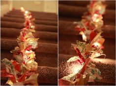 vintage pretty: {DIY} Christmas Fabric Garland