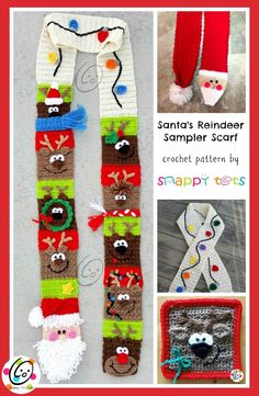 I love playing with stitches and lots of bright colors. Santa and his nine reindeer seemed like the perfect scarf. Sold through Ravelry. :(