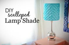 DIY Scalloped Lamp Shade - customize an ordinary lamp with this easy tutorial. Love the texture it adds!