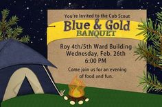 Blue & Gold Banquet Camping theme