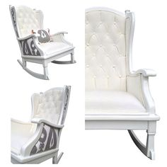 OMG! I am in love with this Upholstered Painted Rocker Rocking Chair Tufted by OrangeNolive