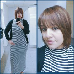Loving my fitted stripe Maxi Dress #StyledEffortlessly #Plus Size #LoveYourself