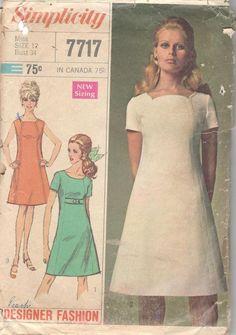 VTG 70s BUTTERICK 6292 Fit//Flare Dress w Capelet /& Belt PATTERN 8~10~12~14~16 UC