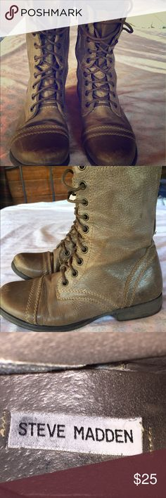 Steve Madden Boots Adorable, grey winter tie up boots! Steve Madden Shoes Lace Up Boots