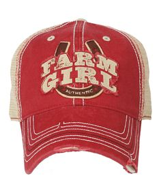 Look what I found on #zulily! Farm Girl Red & Blue 'Farm Girl' Trucker Cap by Farm Girl #zulilyfinds