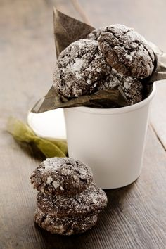 Paula Deen's Chocolate Gooey Butter Cookies.  So good and so easy that I immediately made a second batch immediately!