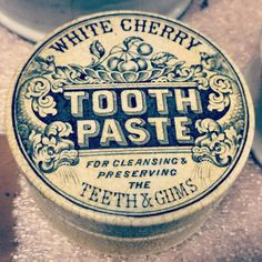 """Toothpaste from back in the day.. #history #museum #object #toothpaste #work #vintage #typography"""