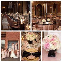 Blush Pink and Black Wedding