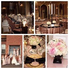 Blush Pink and Black Wedding
