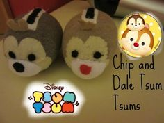 Disney Chip and Dale tsum tsum plushie tutorial