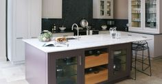 Moderne Fitted - Kitchens | Fired Earth IN BLUE