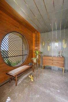 Door Design Interior, Foyer Design, Contemporary Interior Design, Console Furniture, Home Decor Furniture, Luxury Homes Interior, Interior Architecture, Bungalow Interiors, Feature Wall Design
