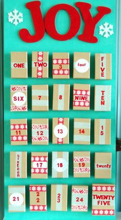 An easy DIY Advent calendar made from boxes. #christmas #advent