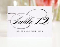 Elegant Script Place Cards or Escort Cards for Your Wedding, Marriage Design Deposit. $100.00, via Etsy.