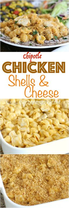 Chipotle Chicken Shells 'n Cheese recipe from The Country Cook. My family absolutely loved this and it was crazy-easy to throw together! #LiquidGold #dinner #spon #easy #kidfriendly