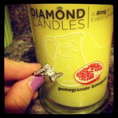 3rd Diamond candle (won in the diamond candle giveaway) #diamondcandles