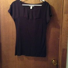 Tops - Banana Republic Purple knit and woven top. Size Small. $30