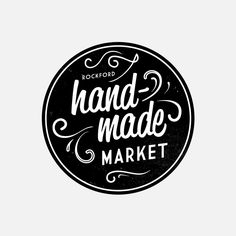 Hand-made / handmade market. #badge #crest #emblem #button #logo #logos #typography