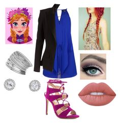 """""""Elsa"""" by audrey-luc on Polyvore featuring City Chic, Alexandre Vauthier, Steve Madden, Miss Selfridge, tarte and Lime Crime"""