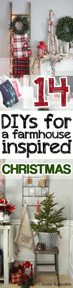 14 DIYs for A Farmhouse Inspired Christmas - Picky Stitch