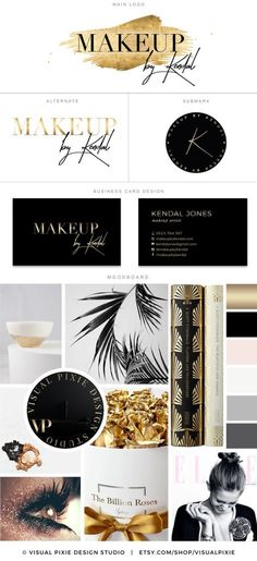PREMIUM Branding Package - Business Card Design - Gold Foil Effect - Makeup Artist Logo - Potography - Boutique Logo - Moodboard Watermark This premade Branding Package Logo Design Kit is a perfect solution to professionally brand your business for an affordable price. A full package is included for the price listed! I dont charge additional fees for any additional files you need, like it is a practice with other designers…