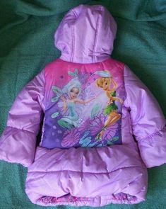 NWT Youth girls Disney TINKER BELL Black /& Teal Fleece Zip Hoodie Jacket 4,5,6
