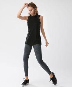 Grey marl cropped leggings - Leggings - SPORT | Oysho