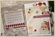 TERESA COLLINS DESIGN TEAM: It's begining to look a lot like Christmas, Santa's List Stitched Mini Album by Cheri Piles